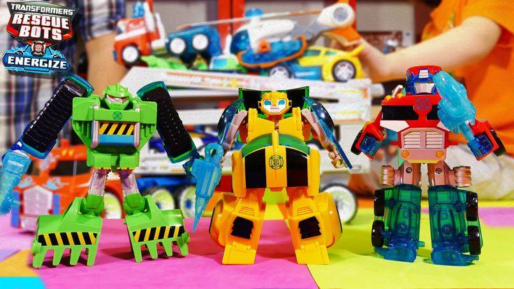 Rescue Bots Toys Boulder, Bumblebee, Optimus Prime, Rescue Bot Energize ...