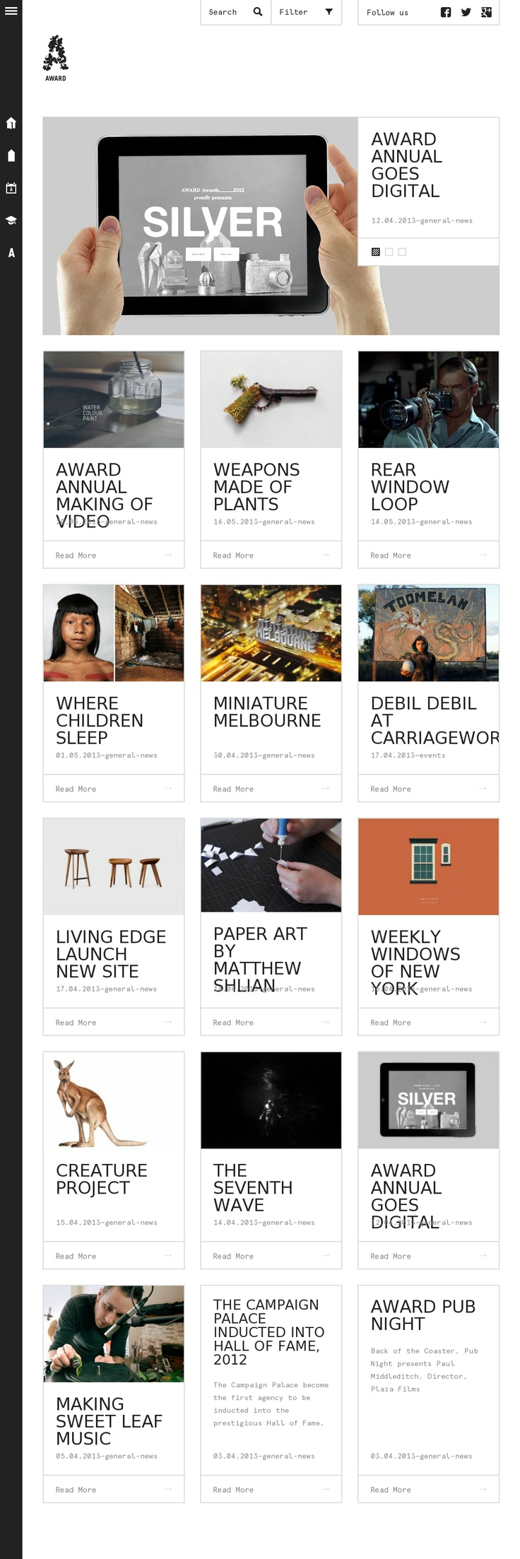 Unique flat, minimal design on this blog web site.