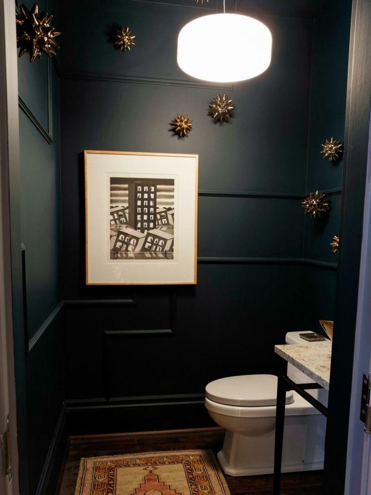 idée déco de mur de toilettes