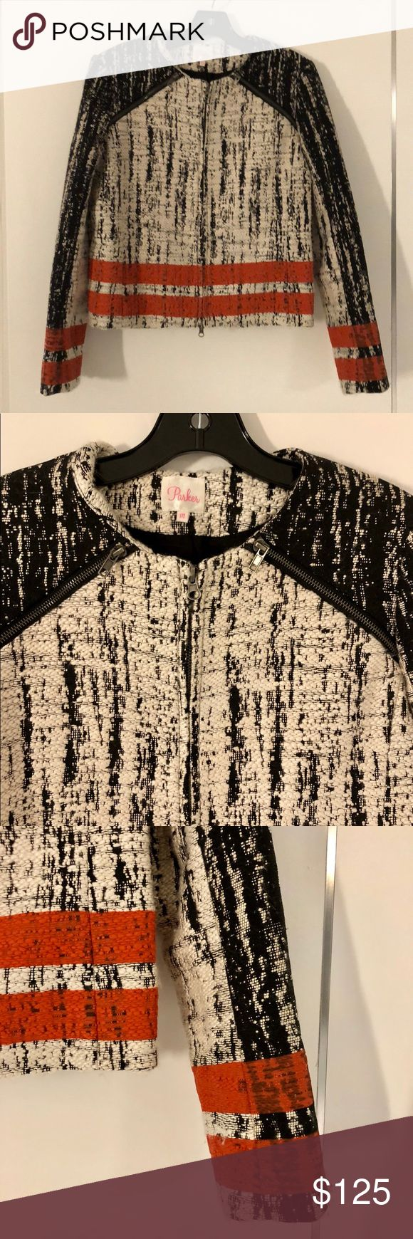 Parker Jacket Size M. Acrylic/Poly/Nylon/Wool. Parker Jackets & Coats
