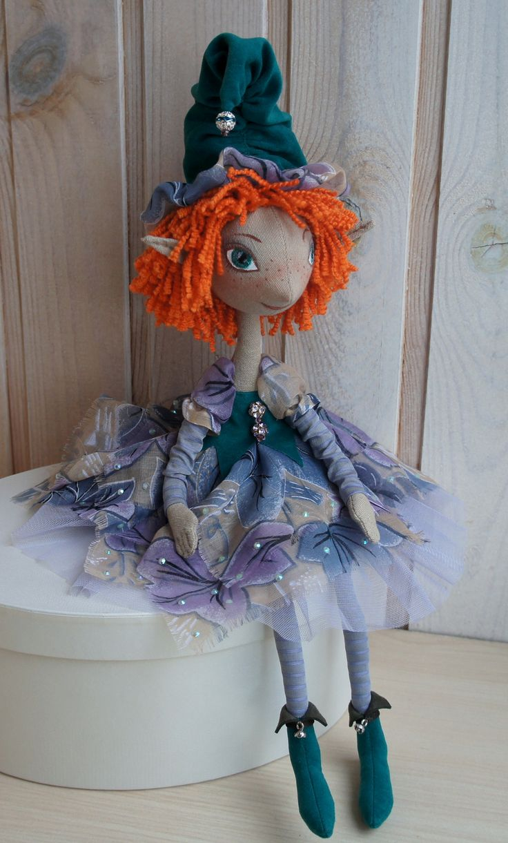 Кукла текстильная интерьерная ручная работа    Эльф Fiva