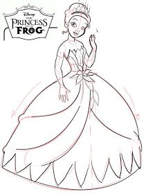 Disney Princess Tiana Coloring Pages To Girls