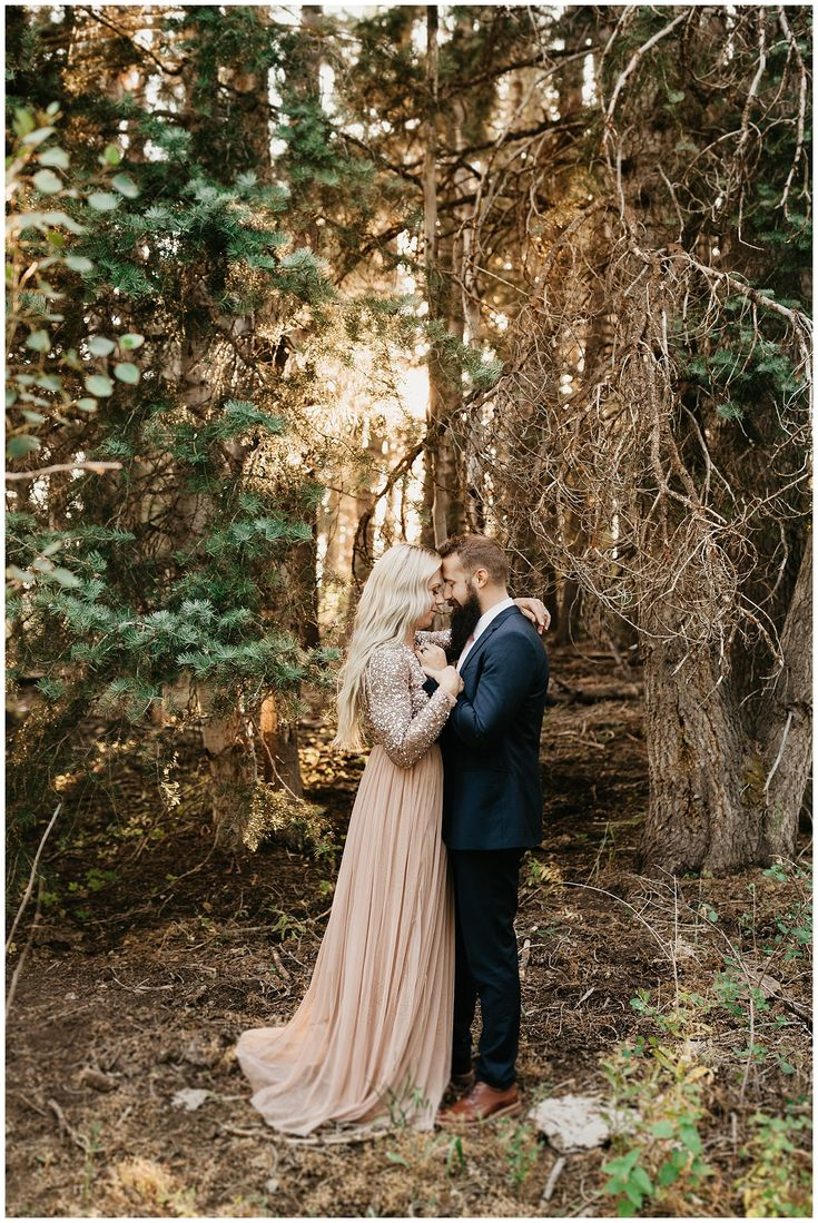 Golden Woods Anniversary Session in Payson Canyon, Utah