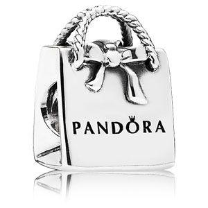 $45 Sterling Silver Pandora Shopping Bag Purse Bead - 791184
