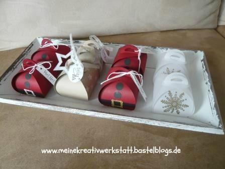 Zierschachtel für Andenken, Verpackungen Stampin up, Weihnachten, Nikolaus. Danke, Embossing, Transparent