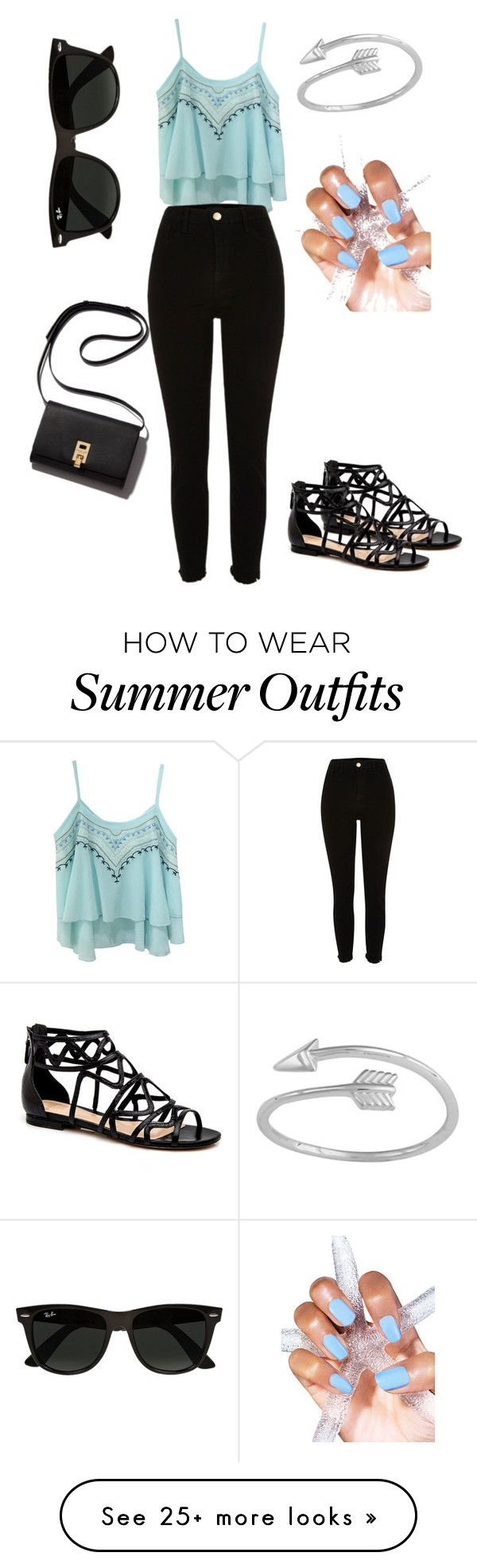 """fun summer outfit"" by what-ever-you-say on Polyvore featuring Mode und Ray-Ban"