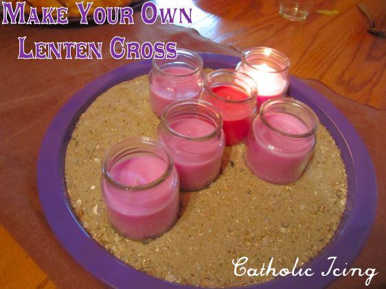 Lenten Crosses (similar to an Advent wreath)