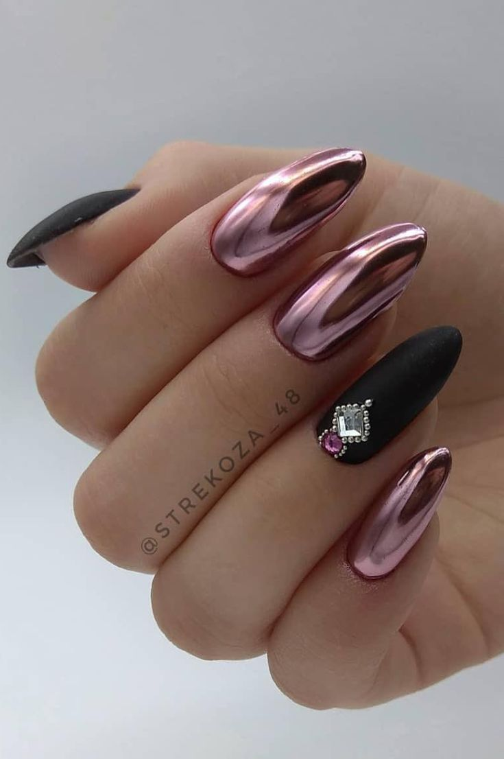 Nails Design: Night Entertainment for 42 Festive and Bright Nail Art Ideas For New 2019 – Pag…