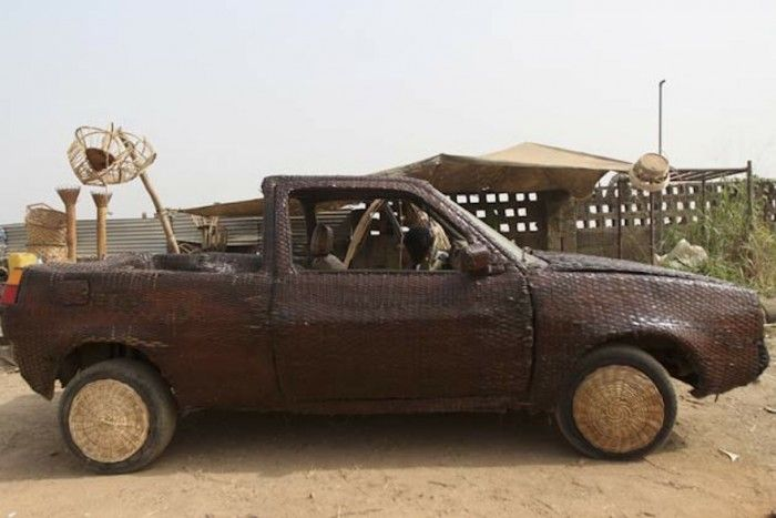 The world's first hand-woven raffia car in Nigeria | Design Indaba