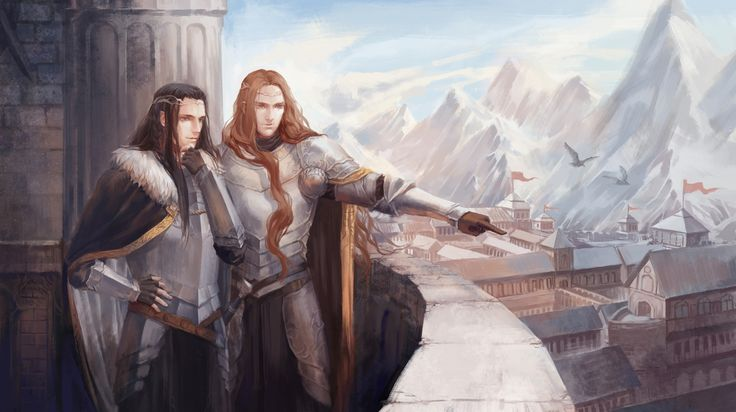 Maedhros and Maglor in Himring --- Planning some construction and defenses