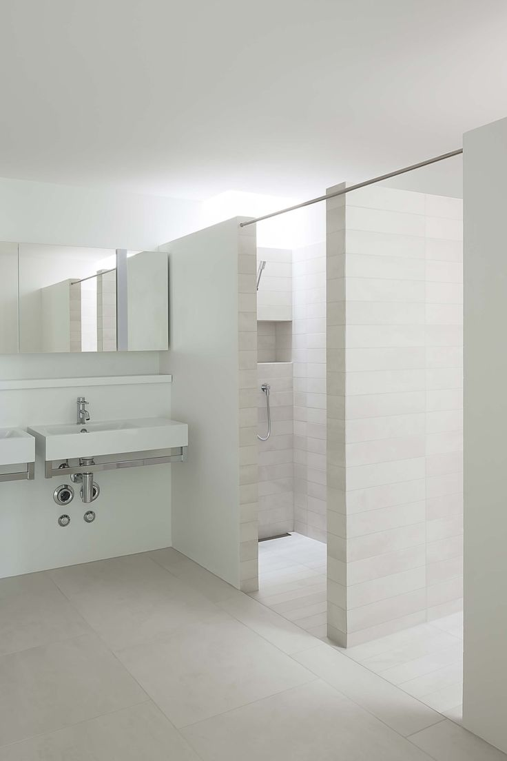 #bathroom at Weidterassen, Switzerland, with #TerraXXL collection http://www.mosa.nl/us/products/collection/terra-xxl/