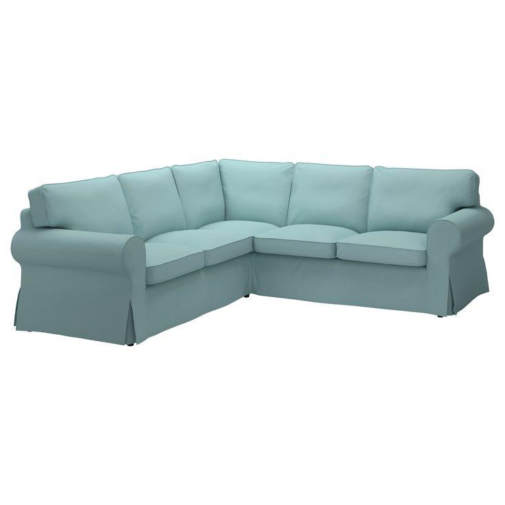 Duck Egg Blue Leather Sofa: 56 Best Images About Ektorp Sofa On Pinterest