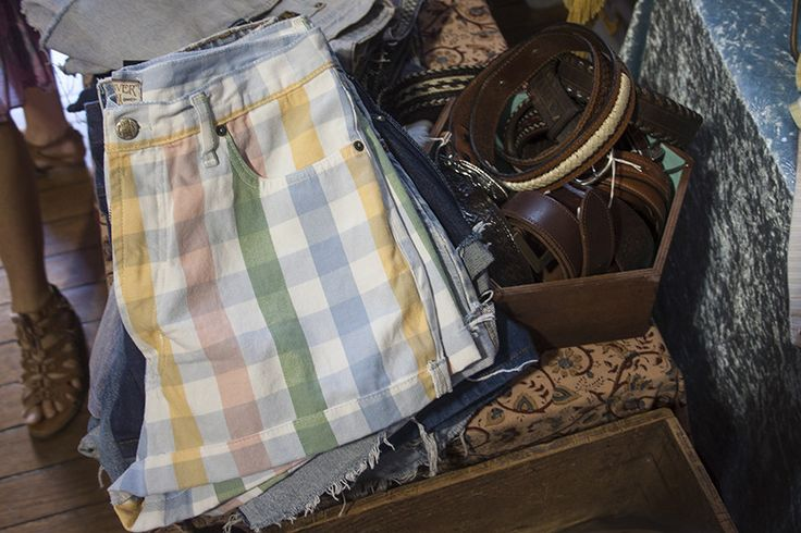 Vintage clothes at Bangalow markets