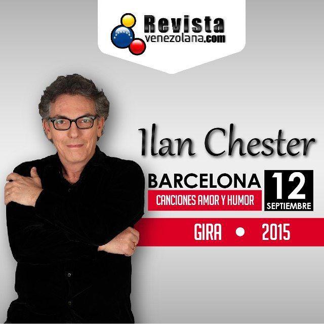 Mañana #Barcelona tendrá el honor de recibir al cantante venezolano @Ilan_chester  Canciones Amor y Humor gira 2015 que no puedes dejar pasar. Venezolanos  en Barcelona los esperamos!  #Music #Love #Humor #VenezolanosEnEspaña #VenezolanosEnBarcelona #Like