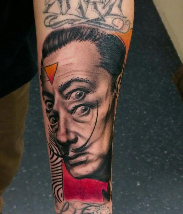 Salvador Dali Tattoo by Devin Zimmerman