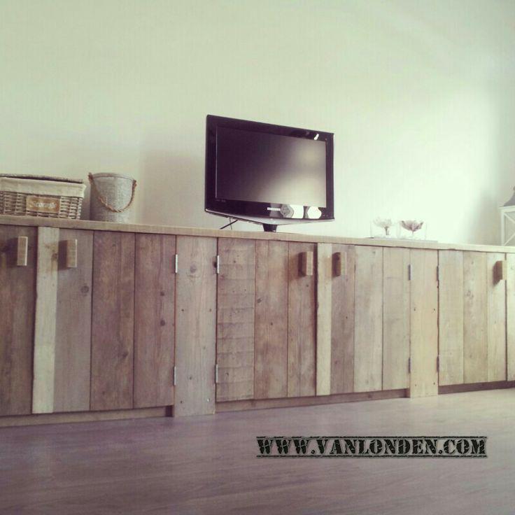 Dressoir kast van steigerhout op maat gemaakt
