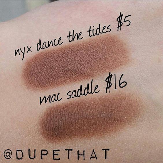 DUPE - MAC Saddle Eye Shadow = NYX Dance The Tides