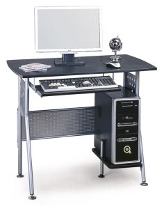 B-58 Desk SIGNAL. Simple but functional work desk. Ample space for a PC and the keyboard. The structure is metallic in aluminum color, the boards is made of high quality MDF in dark brown color. Ideal for small rooms. Polish Signal Modern Furniture Store in London, United Kingdom #furniture #polish #signal #desks