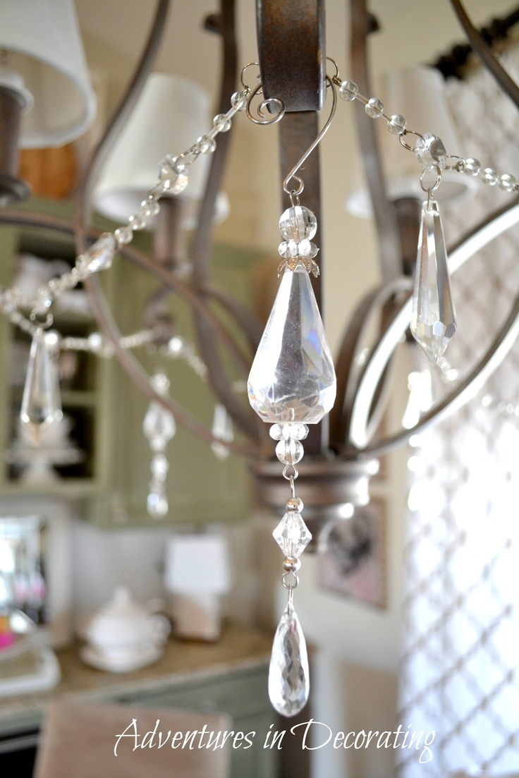 Add Bling To A Dark Chandelier Using Crystal Style