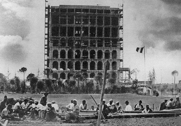 #Roma 1942,  #Worldsfair (mai svoltasi). Progetto di Giovanni Guerrini e Ernesto Lapadula.