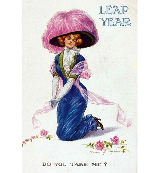 "135 Best Antique ""Leap Year"" Postcards Images On Pinterest"