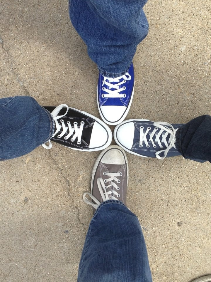 It is quite a FEET to join together in CONVERSE-ation