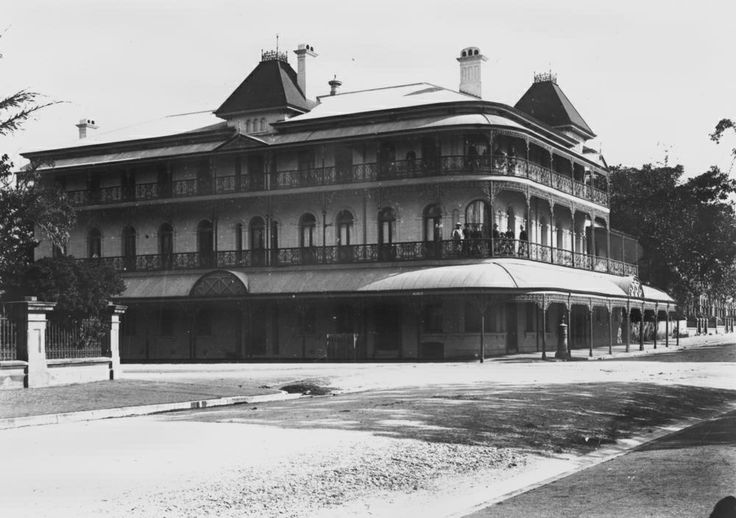 The Grand old Bellvue Hotel, Brisbane Queensland. Knocked down in the dead of night by the Deen brothers with the approval of the Bjelke-Petersen government.  The Bellvue Hotel was heritage listed at the time.