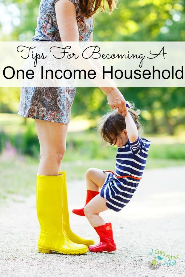 How to live on one income! Many families long to have one parent at home with the kids while the other works outside the home. These Tips For Becoming A One Income Household are a great start for your family to make this transition! Living on a budget| frugal living| personal finance