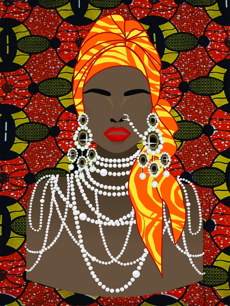 Imagem criada com inspiração na beleza africana.