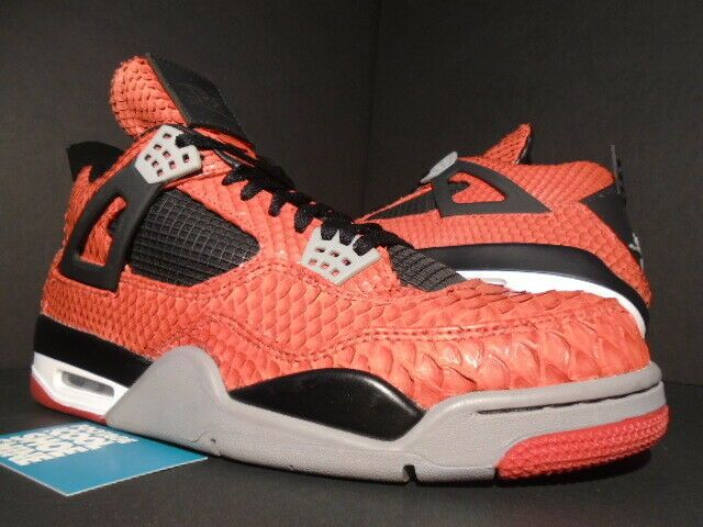 Nike Air Jordan Iv 4 Retro Jbf Incomparable Snakeskin Custom Fire