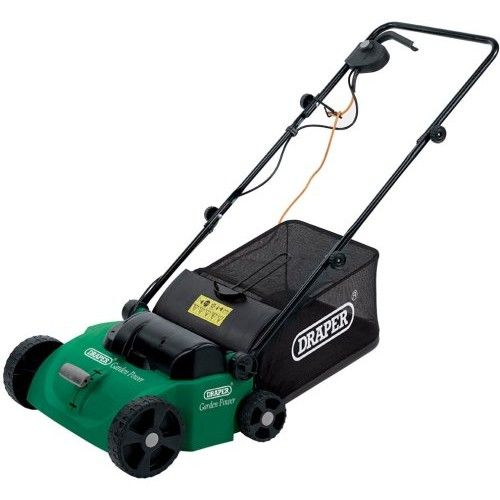 Draper 1,300-Watt Lawn Raker and Scarifier Removes matted grass, moss and other dead material to encourage healthy lawn growth, interchangeable scarifier and aerator drums, - Shop here @ http://bit.ly/1rvhr9c