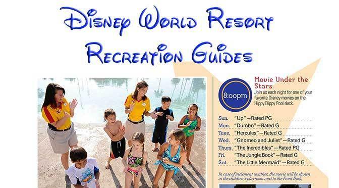 Walt Disney World Resort Recreation Activities Calendars All Star Movies Resort Recreation Activities Guide and Calendar All Star MusicResort Recreation Activities Guide and Calendar All Star Spor…