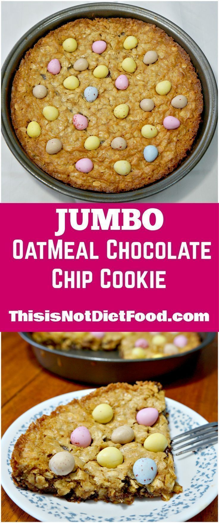 Jumbo Taarten Jumbo Oatmeal Chocolate Chip Cookie Giant Cookie With Mini Eggs