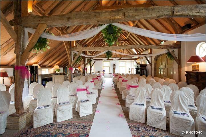Trouwlocatie, ceremonieopstelling in het Koetshuis op Havezathe Den Alerdinck