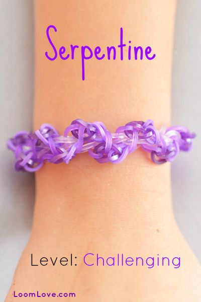 How to Make the Rainbow Loom Serpentine Bracelet