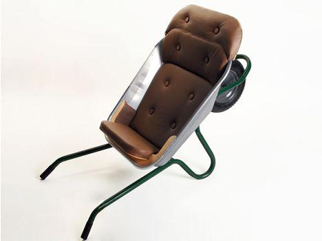 loungebarrow portable transforming chair Kruiwagen in een heel andere rol, lekker luie stoel