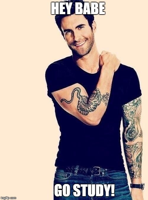 Needed some motivation to keep studying for midterms so I made this <3 Adam Levine