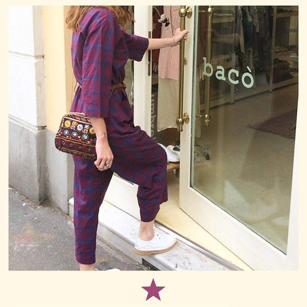 Monday. Back in shop! Come and you'll find that beautiful jumpsuit in cotton with leather espadrillas and kanta bag  #bacomilano #shopping #milano #shop #shopourinstagram #shoponline #shoplocal #fashion #instafashion #girl #womanstyle #womanfashion #styles #style #fashionmagazine #ss17collection  #spring #summer #summerdress #jumpsuit