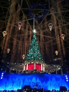 Gaylord Palms Christmas Tree Lighting and Light Show During the Holiday Season