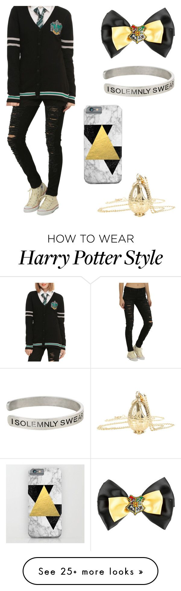 """Hogwarts"" by jentrix1 on Polyvore featuring Warner Bros. and harrypotter"