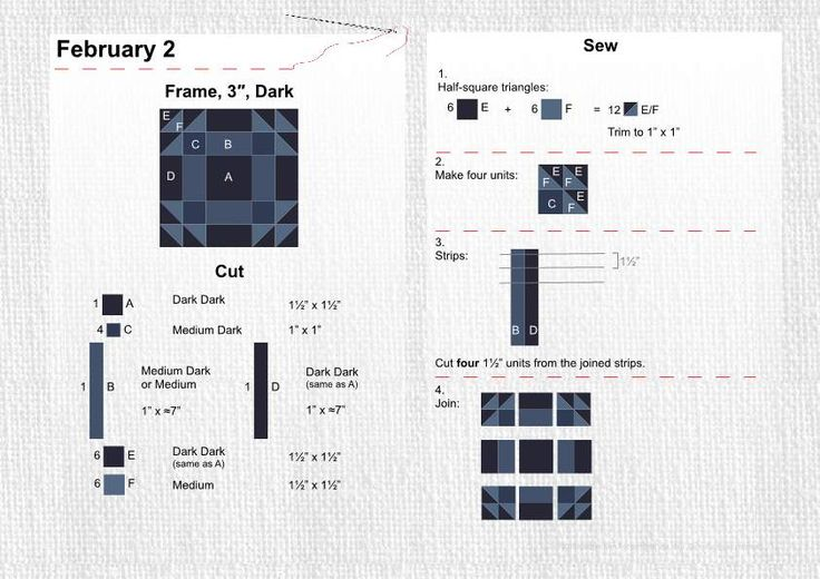 February 2 Frame 3 Quot Dark 365 Block Challenge Quilt
