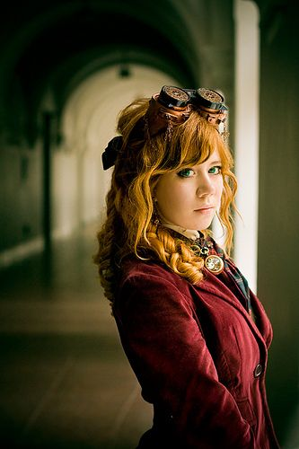 Steampunk Lolita by Ai.  I like the simplicity and the subtle inclusion of the goggles