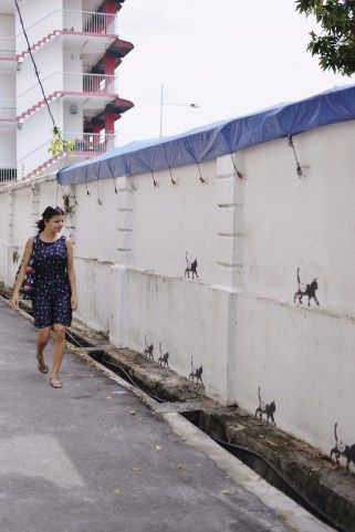 Admiring the cute cat street art in Georgetown Penang, during my recent visit to Malaysia. Click for more!