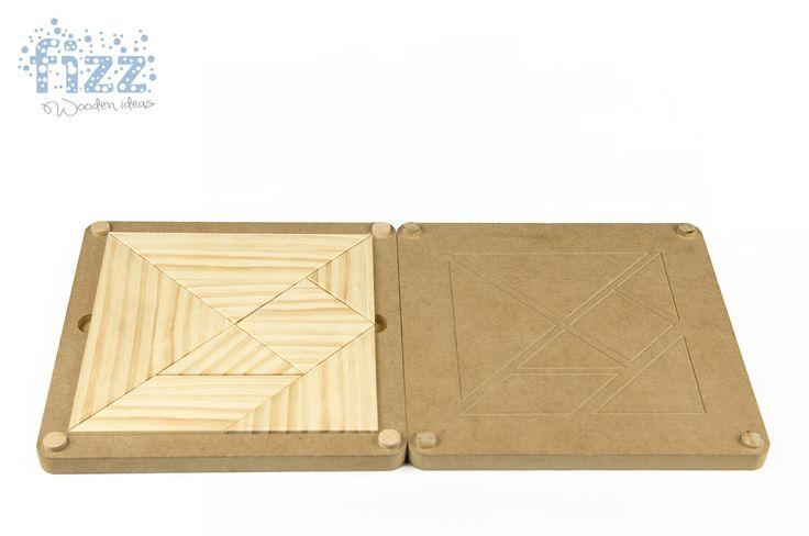 Tangram chino #juguetesmadera, #puzzle , #natural #artesanal