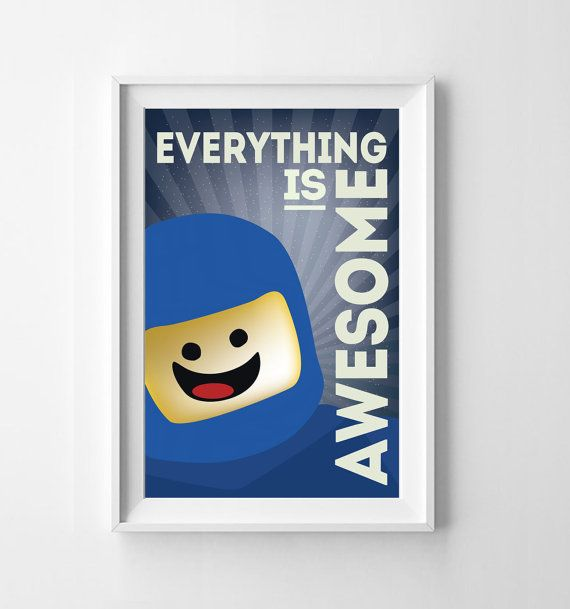 Lego Everything is Awesome Wall Art Instant by itsDesignsByChelsea, $12.00