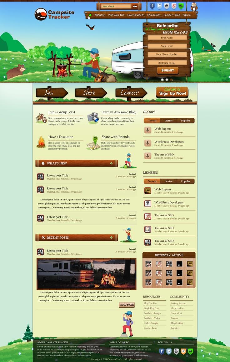Webdesign for CampingTracker - Slide 2