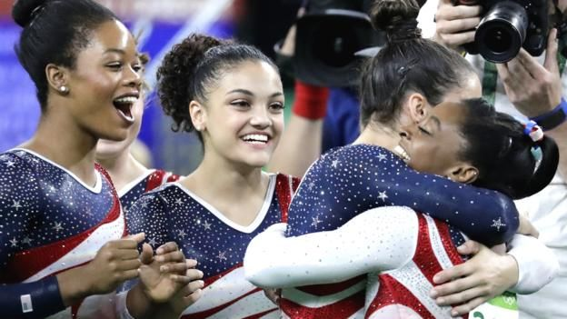 US absolutely dominate the women's gymnastics final to take gold, while Team GB comes 5th. 9th August 2016