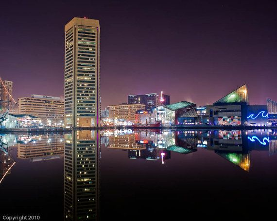 Baltimore Art, Baltimore Inner Harbor, Fine Art  Photograph, Baltimore Photography, Baltimore Skyline