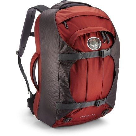 Osprey Porter 46 Travel Pack- osprey makes the most awesome packs! I got this when I decided I was going to carry on for all of our trips. It's carry on compliant with all airlines and holds a TON of stuff.