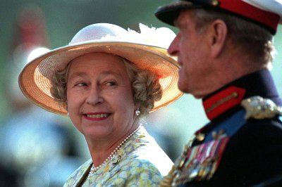June 13, 1996: The Queen and Prince Philip attend the Beating the Retreat ceremony on Horseguards Parade in honour of his 75th birthday